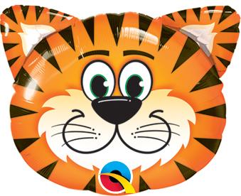 "14"" Air-fill Shape Tickled Tiger Foil"