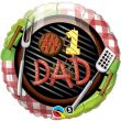 """18"""" #1 Dad Grill Foil Balloon"""