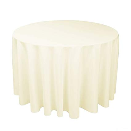 Hire - Ivory Round Linen Tablecloth