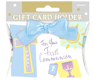 First Communion Gift Card Holder Blue