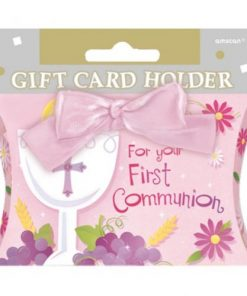 First Communion Gift Card Holder Pink