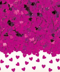 Confetti Sparkle Hearts Hot Pink