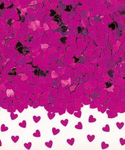 Confetti Sparkle Hearts Hot Pink