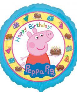 "17"" Peppa Pig Happy Birthday Cake Foil"