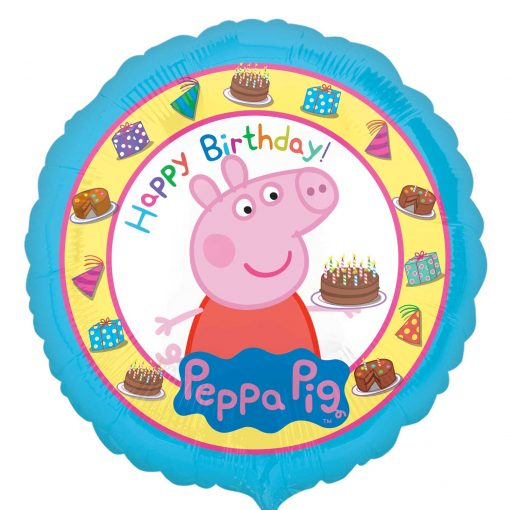 "17"" Peppa Pig Happy Birthday Cake Foil"