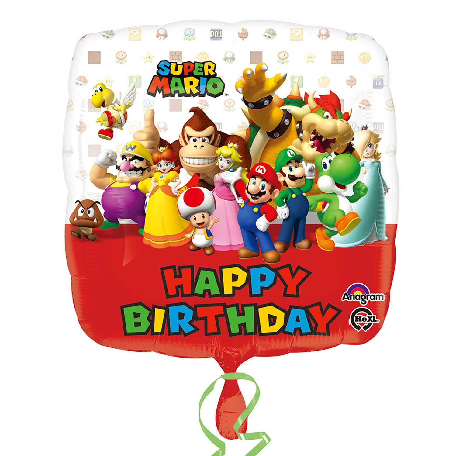 "17"" Super Mario Bros Happy Birthday Foil"
