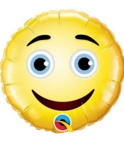 "9"" Air-Fill Round Smiley Face Foil"