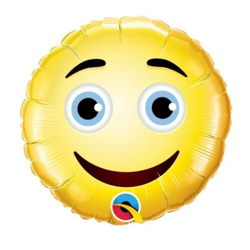 """9"""" Air-Fill Round Smiley Face Foil"""