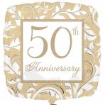 Gold Elegant Scroll 50th
