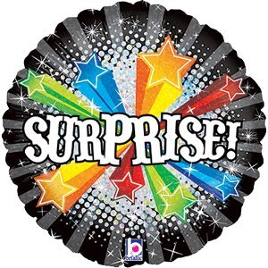 "18"" Bursting Surprise Foil Balloon"