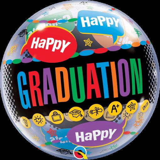 "22"" Happy Graduation Congrats Grad Single Bubble"