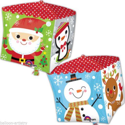 Snowman & Santa Cubez