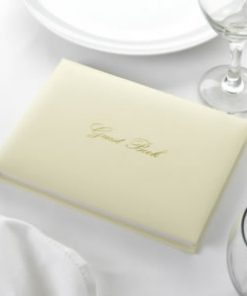 Ivory and Gold Guest Book