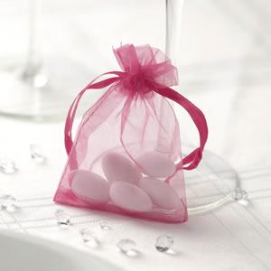 Sheer Organza Bags - Hot Pink