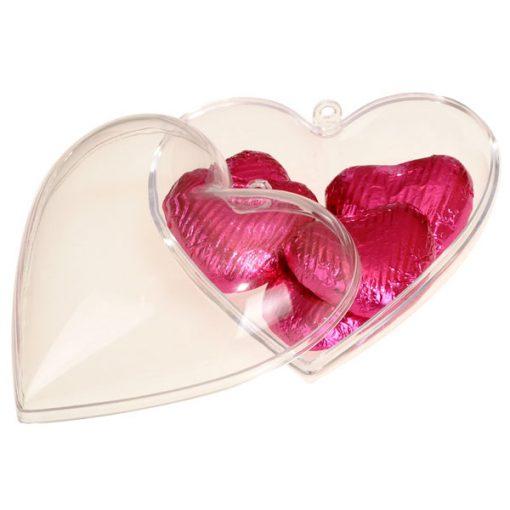 Plastic Favour Box - Heart