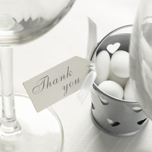 Thank You Ivory Small Luggage Tag