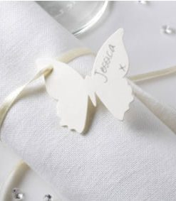 Elegant Butterfly Ivory Luggage Tags