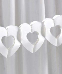 Ivory Tissue Heart Garland