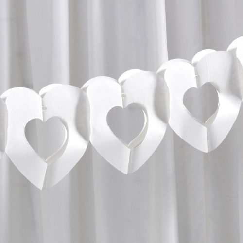 Ivory Tissue Heart Garland