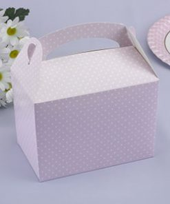 Single Polka Dot Lunch Box Pink