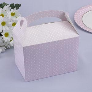 Single Polka Dot Lunch Box Pink