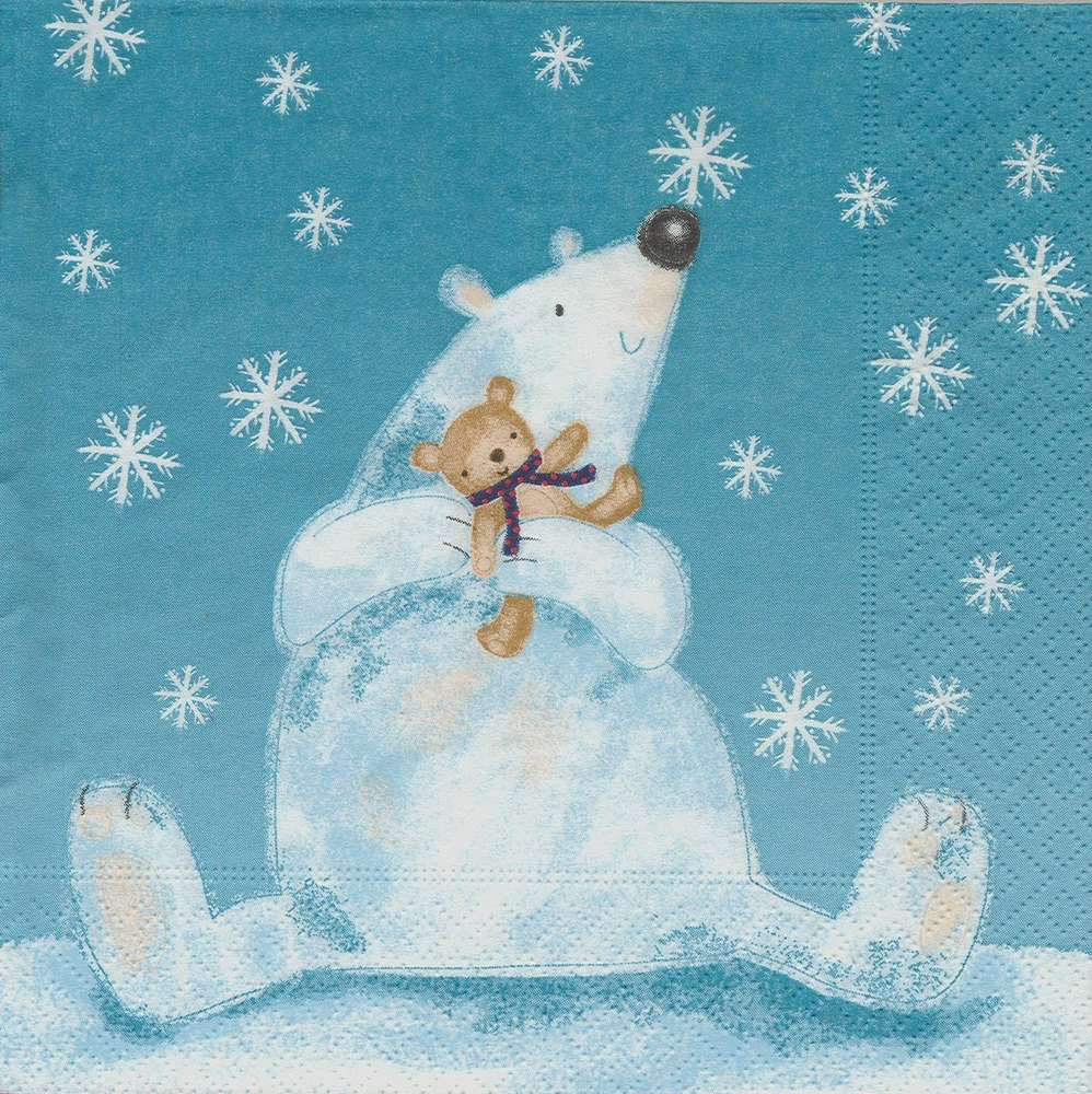 Paper + Design Funny Polar Bear Lunch Napkins