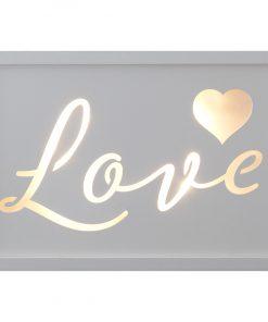 Décor Lites Wooden LED Box White Love