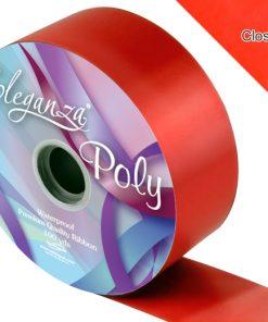 Eleganza 50mm Poly Ribbon Red