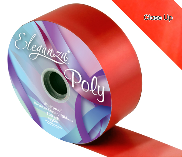 Eleganza 50mm Poly Ribbon Red