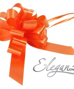 Eleganza 30mm Orange Poly Pull Bow