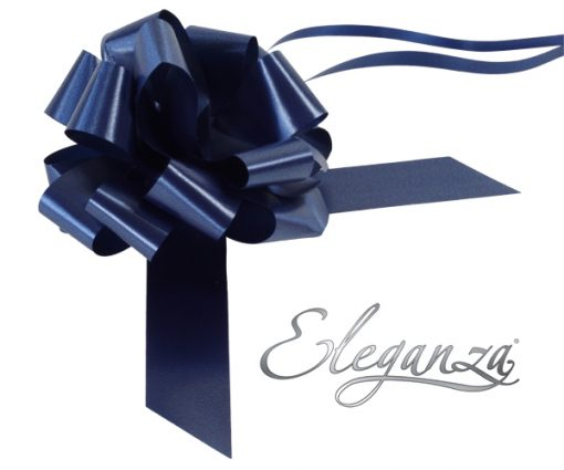Eleganza 30mm Navy Blue Poly Pull Bow
