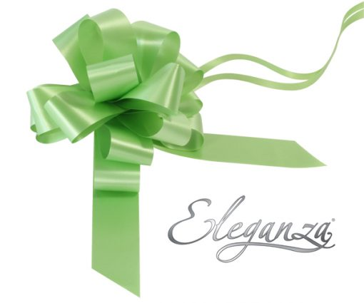 Eleganza 30mm Lime Green Poly Pull Bow