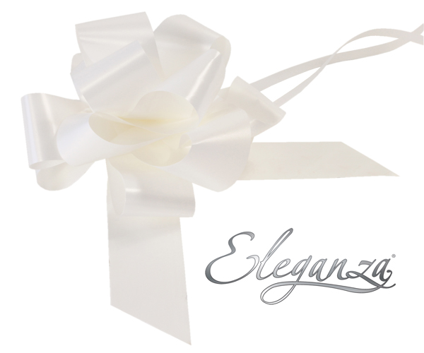 Eleganza 50mm White Poly Pull Bow