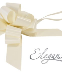 Eleganza 50mm Ivory Poly Pull Bow