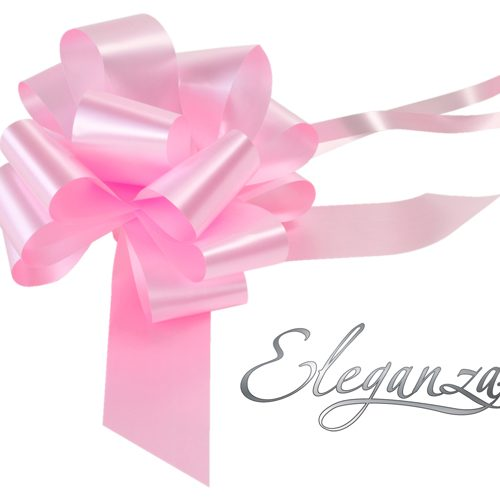 Eleganza 50mm Light Pink Poly Pull Bow
