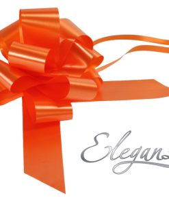 Eleganza 50mm Orange Poly Pull Bow