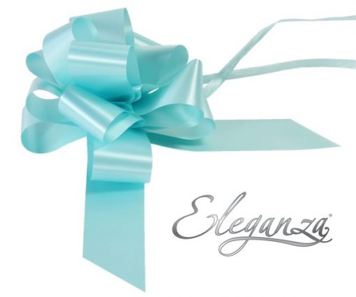 Eleganza 50mm Light Blue Poly Pull Bow