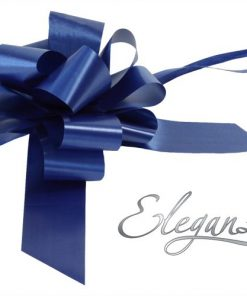 Eleganza 50mm Navy Blue Poly Pull Bow