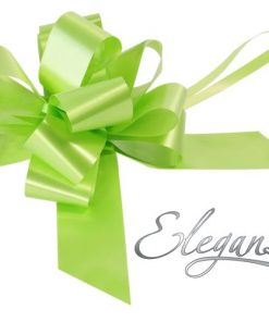 Eleganza 50mm Lime Green Poly Pull Bow