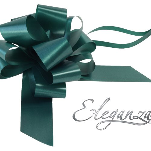 Eleganza 50mm Green Poly Pull Bow
