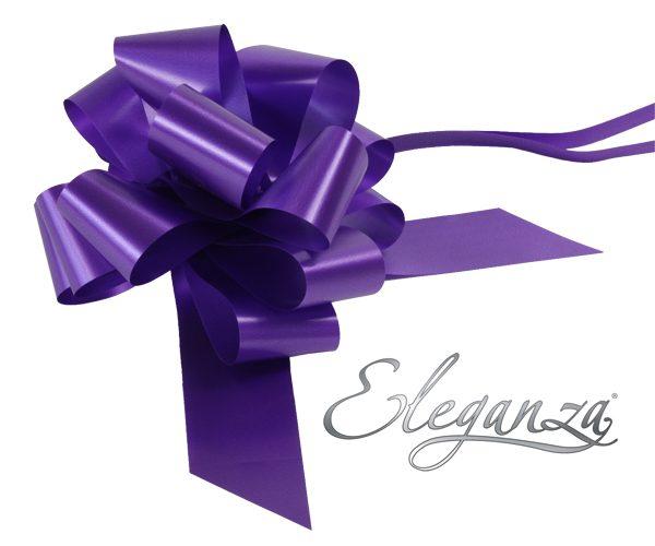 Eleganza 50mm Purple Poly Pull Bow