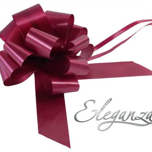 Eleganza 50mm Burgundy Poly Pull Bow