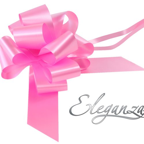Eleganza 50mm Classic Pink Poly Pull Bow