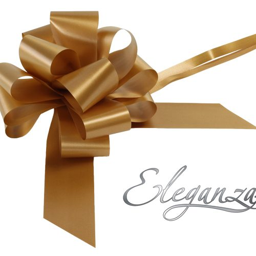Eleganza 50mm Gold Poly Pull Bow