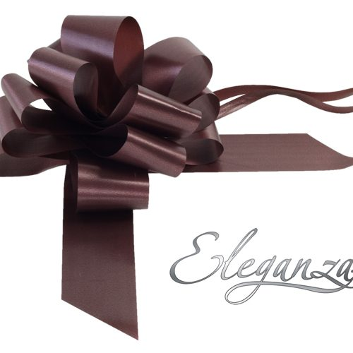 Eleganza 50mm Chocolate Poly Pull Bow