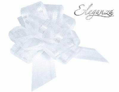 50mm White Organza Pull Bow