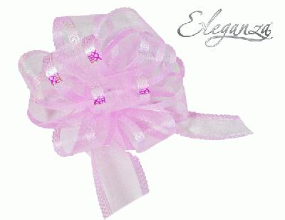 50mm Light Pink Organza Pull Bow