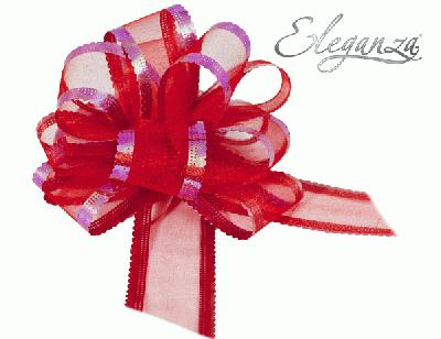 50mm Red Organza Pull Bow