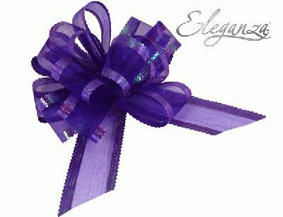 50mm Purple Organza Pull Bow