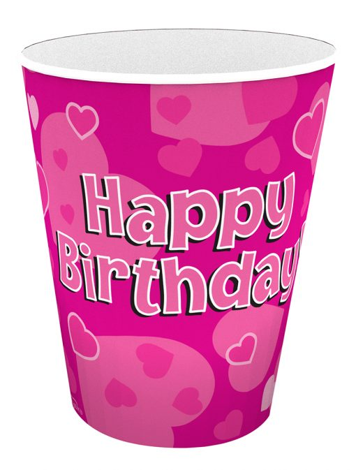 Happy Birthday Pink Cups